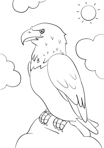 340x480 Cartoon Bald Eagle Coloring Page Free Printable Coloring Pages
