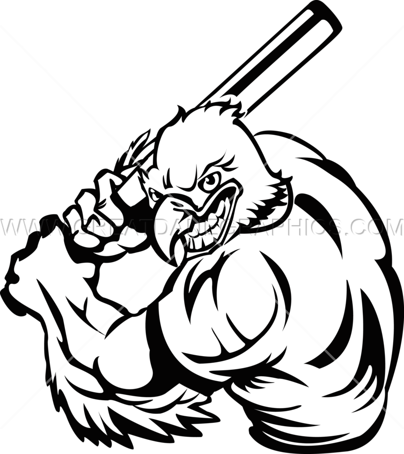 825x928 Eagle Baseball Player Production Ready Artwork For T Shirt Printing