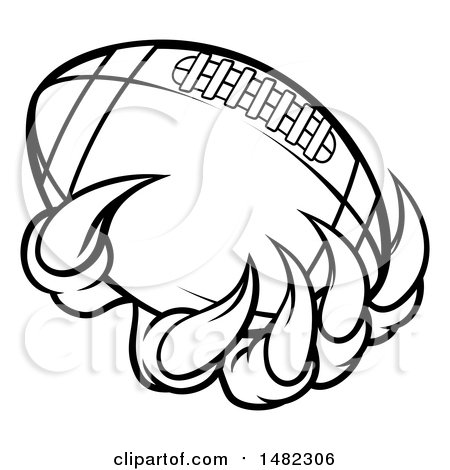 450x470 Clipart Of Blacknd White Monster Or Eagle Claws Holding
