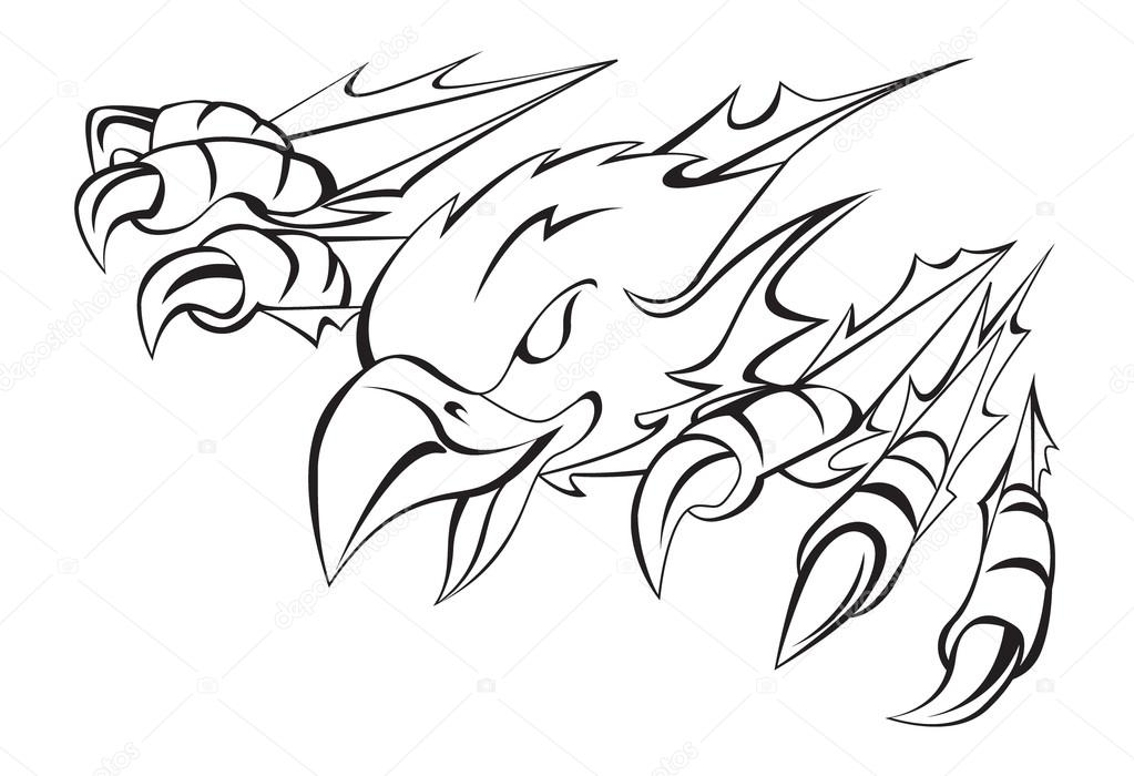 1023x700 Eagle Claw Stock Vector Premiumdesign