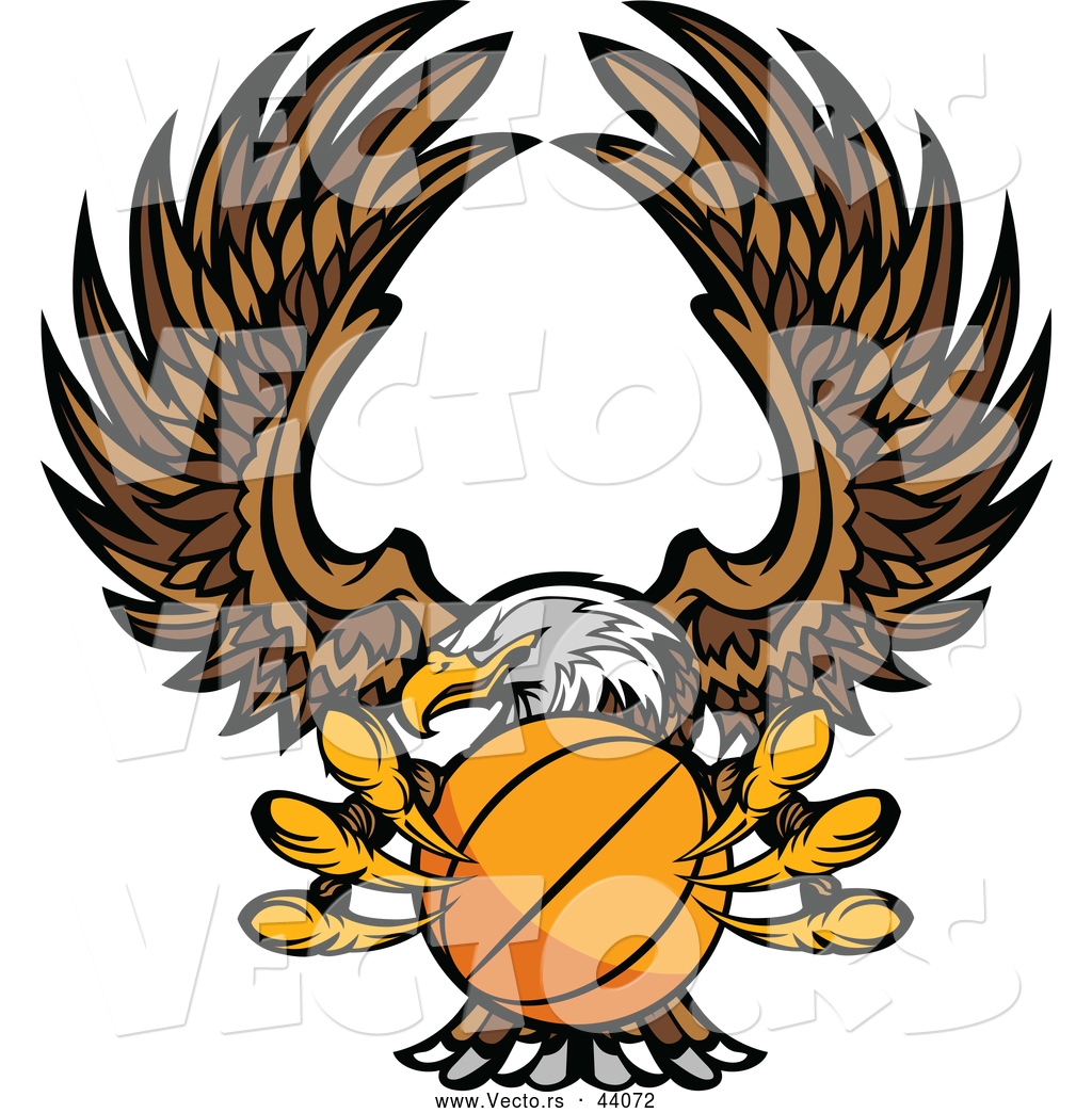 1024x1044 Vector Of A Bald Eagle Flying With A Basketball Within Its Talons