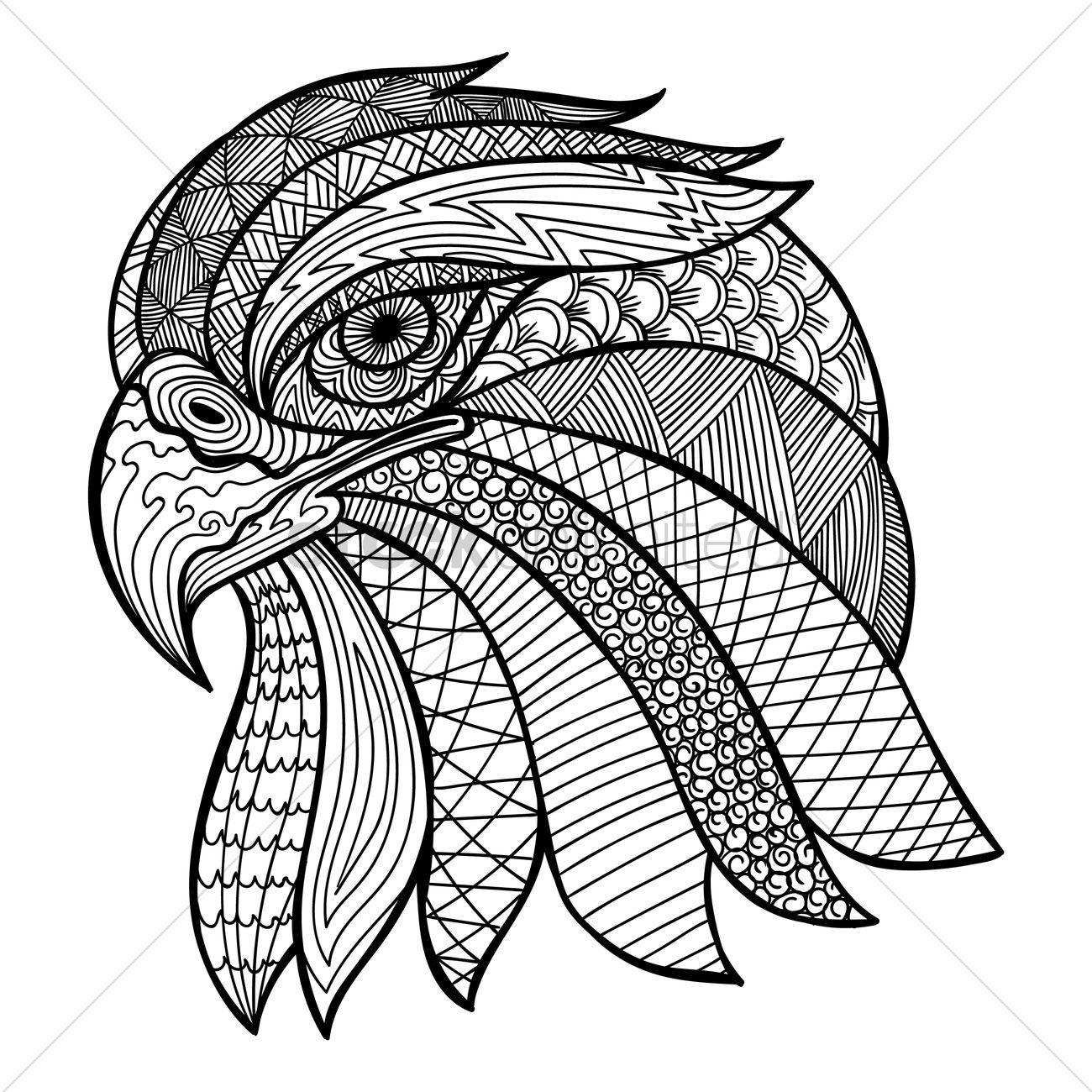 1300x1300 Intricate Eagle Design Vector Image
