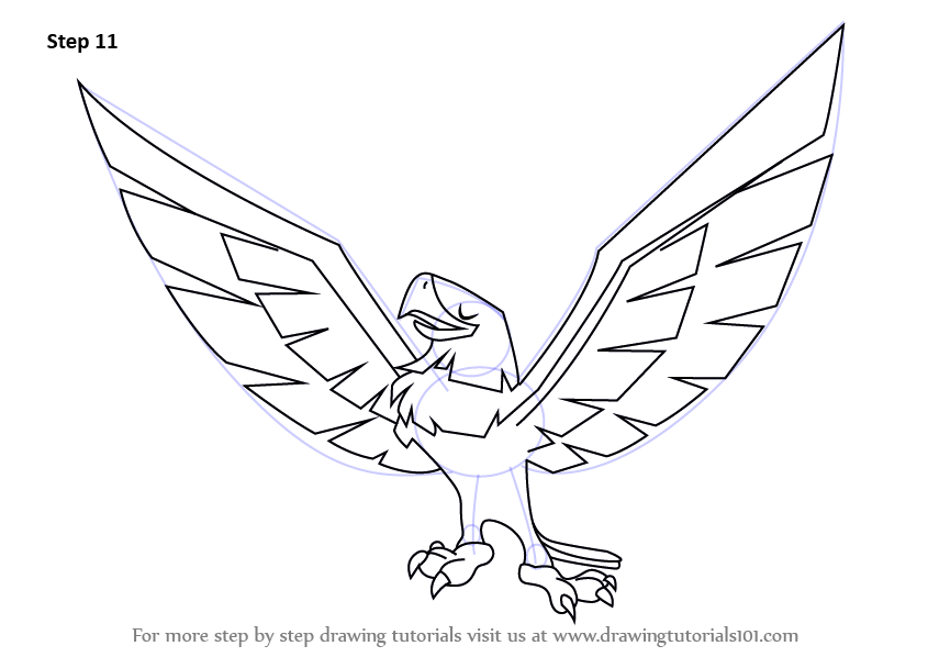 845x598 Learn How To Draw Eagle From Animal Jam (Animal Jam) Step By Step
