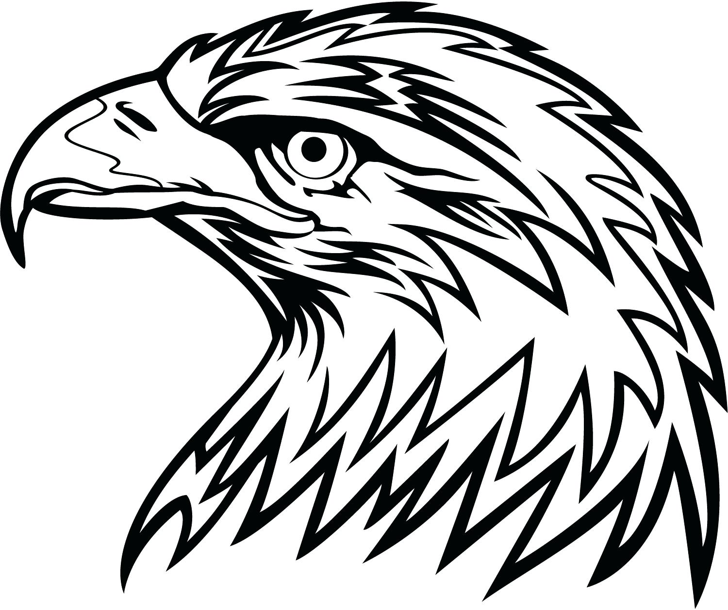 1500x1258 Coloring Eagle Head Coloring Page