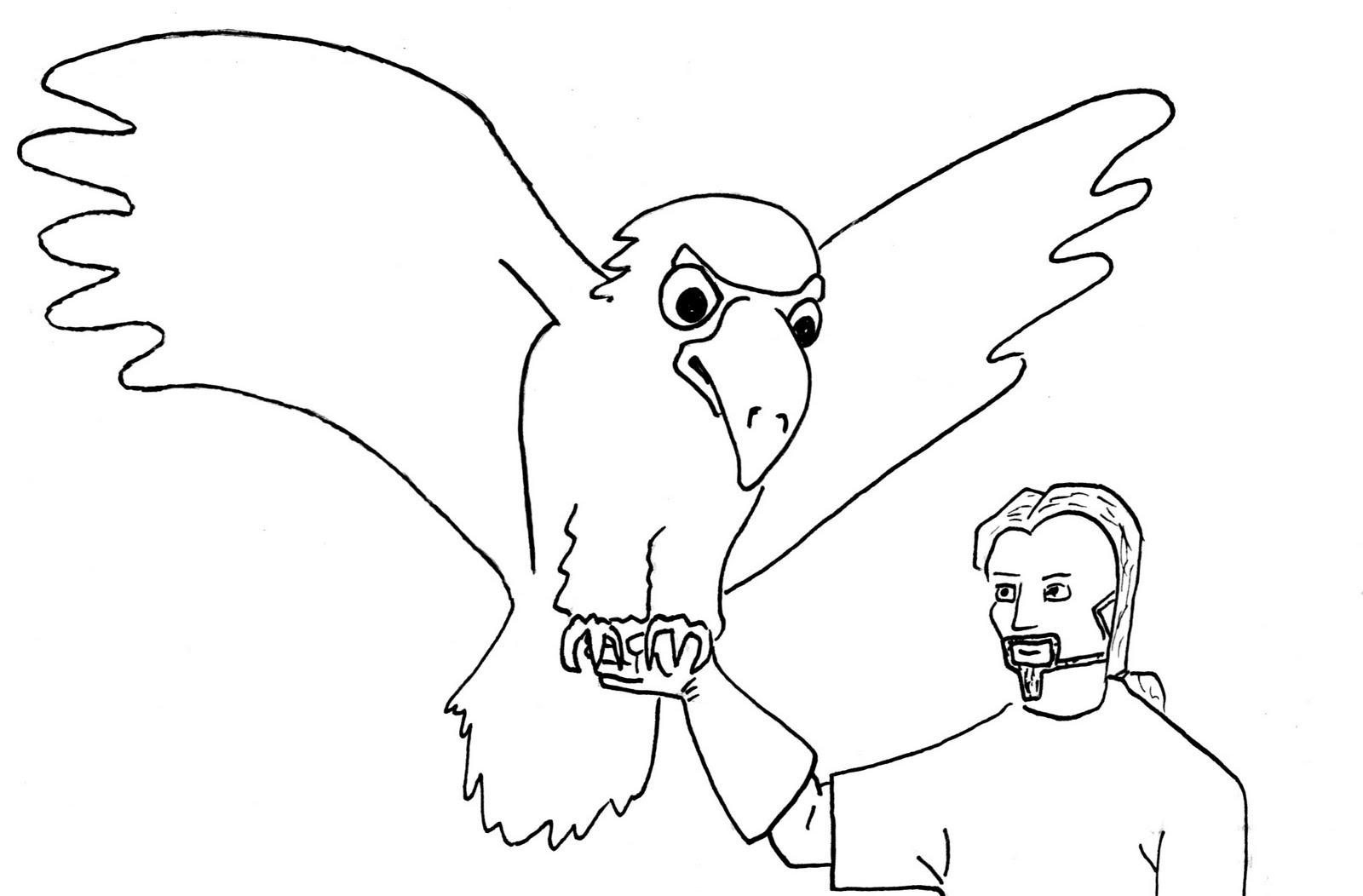 1600x1052 Drawn White Tailed Eagle Cartoon