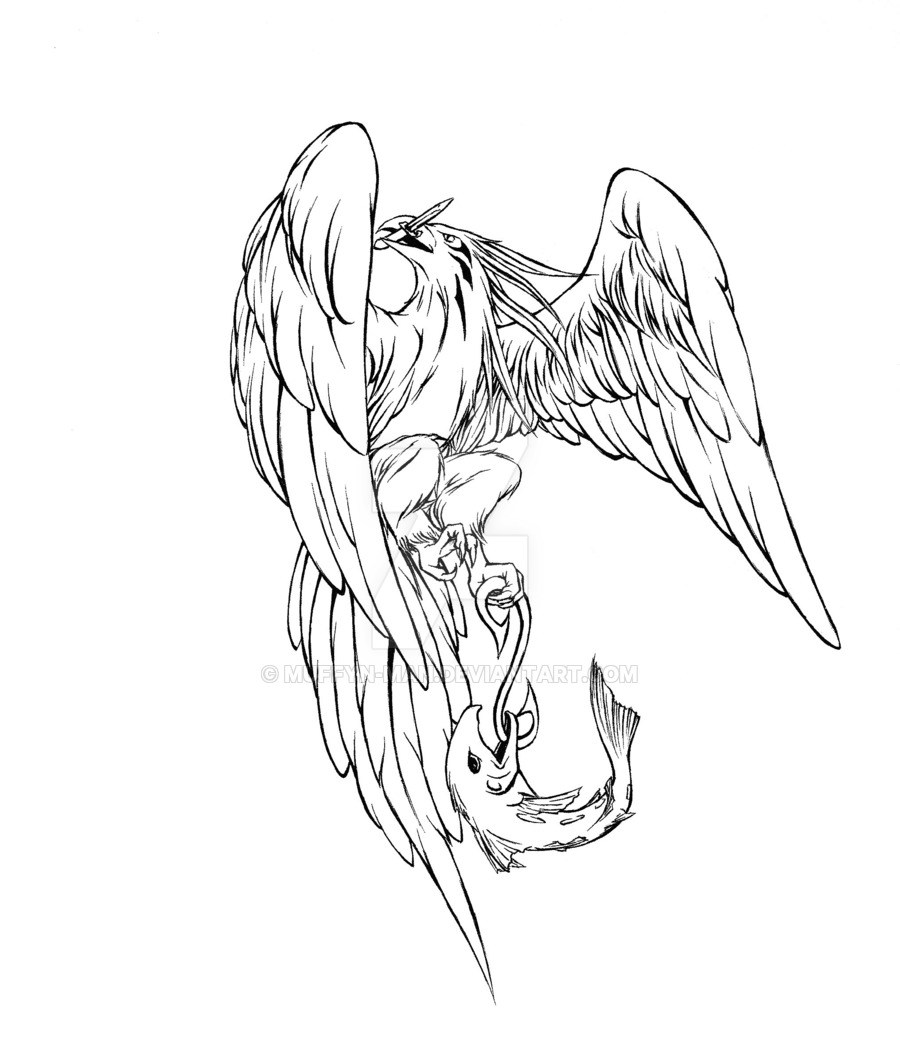 Eagle Tattoo Line Drawing : Eagle drawing tattoo at getdrawings free for