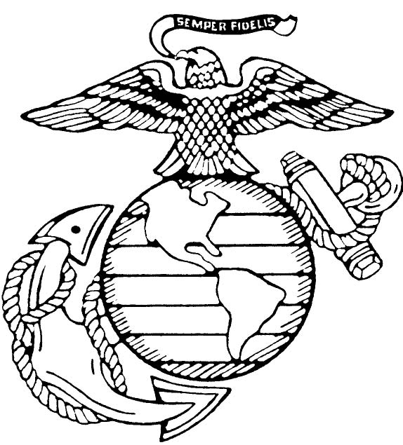 574x635 Free Coloring Pages Of Eagle Globe And Anchor Tattoos