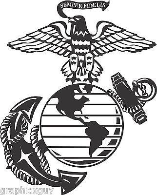 322x400 12 Marine Corps Eagle Globe Amp Anchor Usmc Graphic Decal Sticker