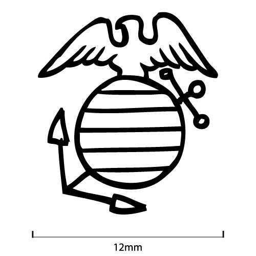 500x500 Usmc Stamp (Eagle, Globe, Amp Anchor) Metal Pressions
