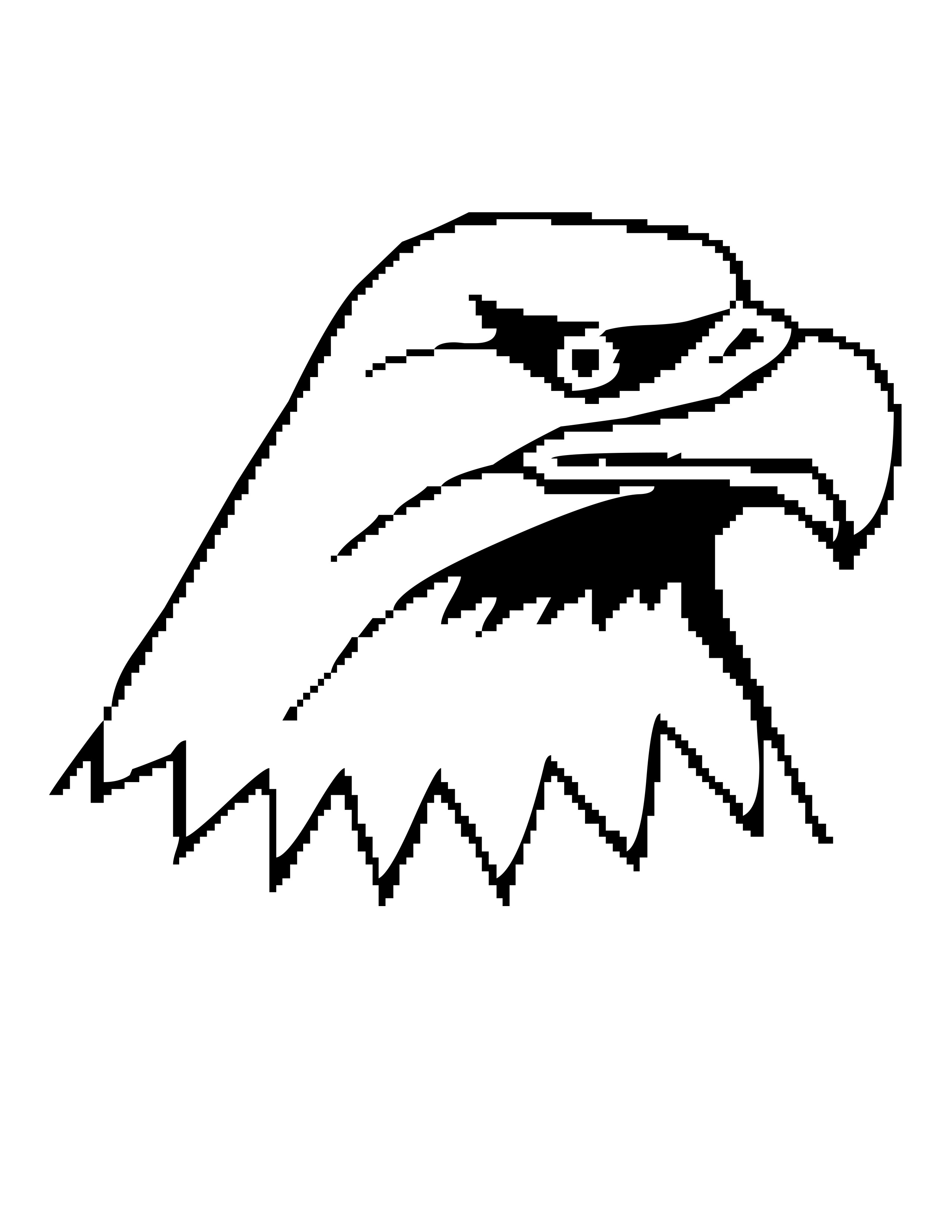 2550x3300 Eagle Head Coloring Pages