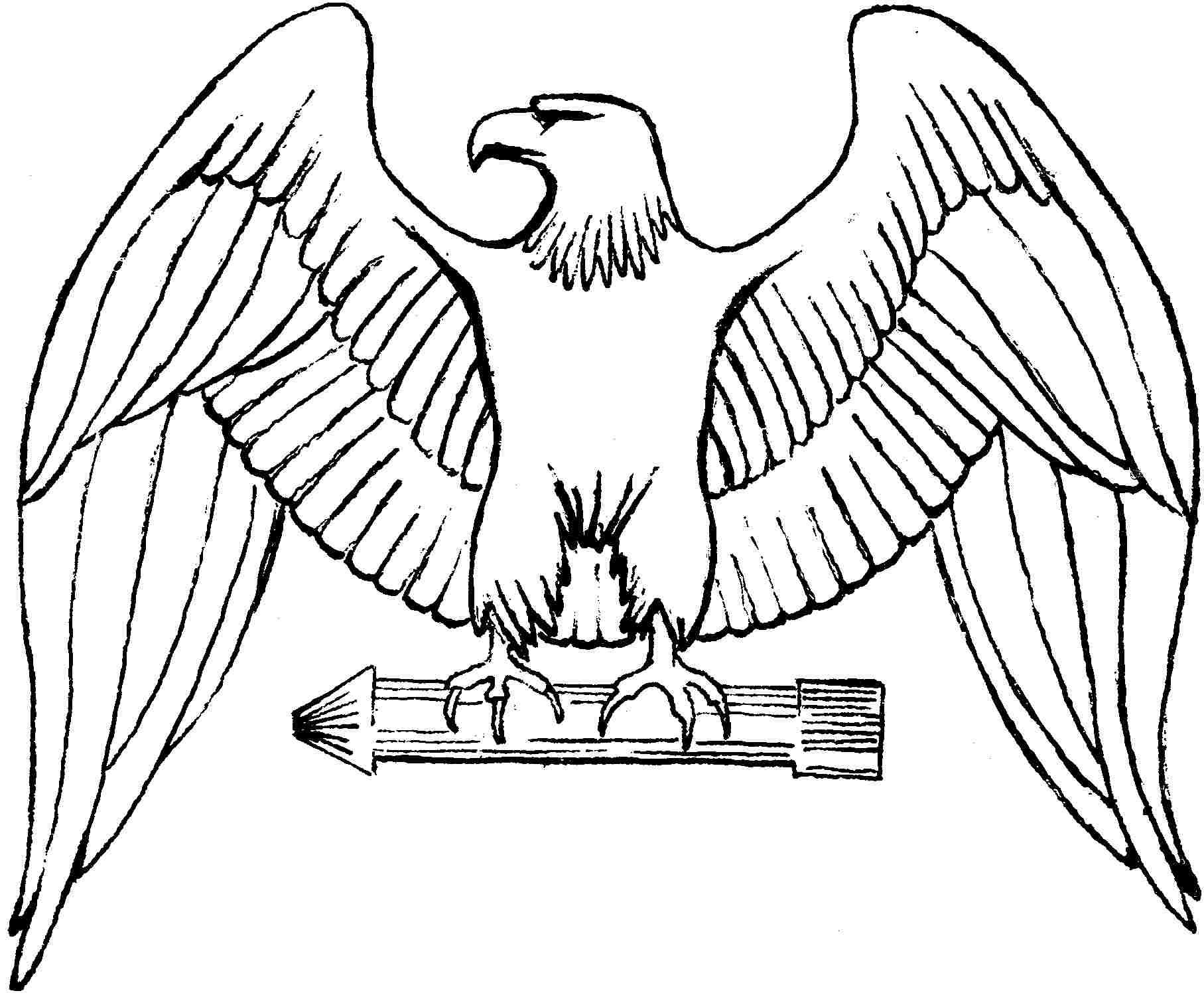 1815x1499 Eagle Coloring Page