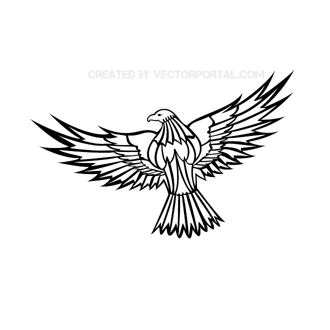 660x660 Images Flying Eagle Line Drawing