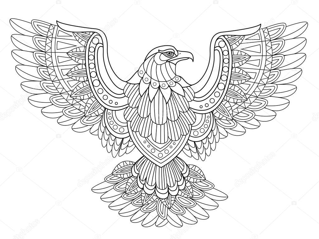 1024x768 Flying Eagle Stock Vector Kchungtw