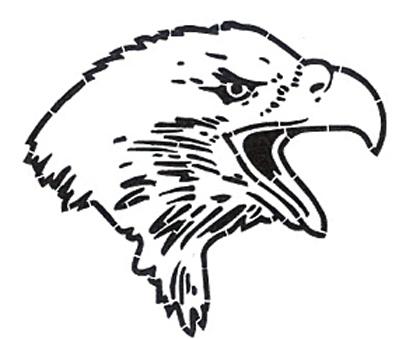 399x339 Eagle Mascot Stencil Alpine Products, Inc.