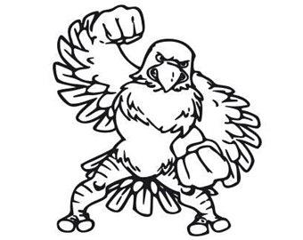 340x270 Eagle Mascot Svg Etsy
