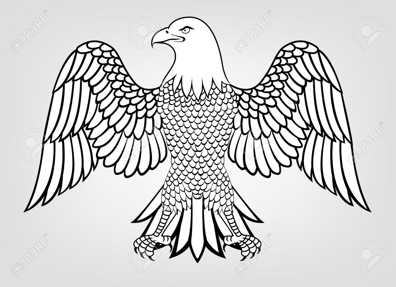 1300x942 Illustration Of Eagle Mascot Royalty Free Cliparts, Vectors,