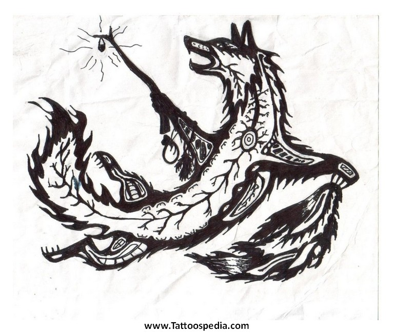 768x650 American Coyote Tattoos 6 Native American Coyote Tattoos 6
