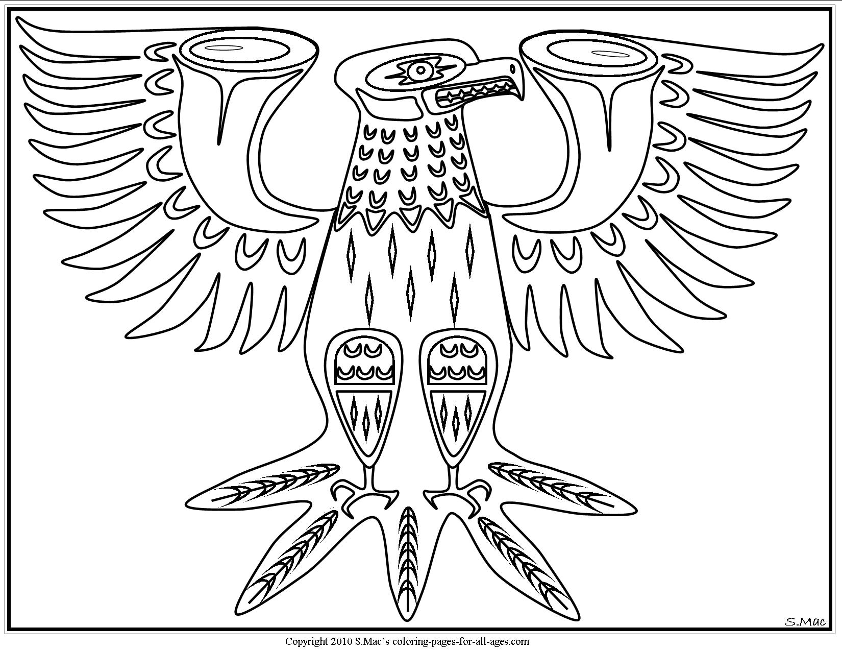 Eagle Totem Pole Drawing at GetDrawings | Free download