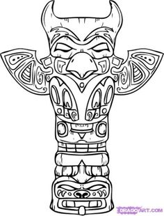Eagle Totem Pole Drawing at GetDrawings.com | Free for personal use ...
