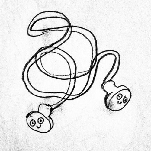 Earbuds Drawing
