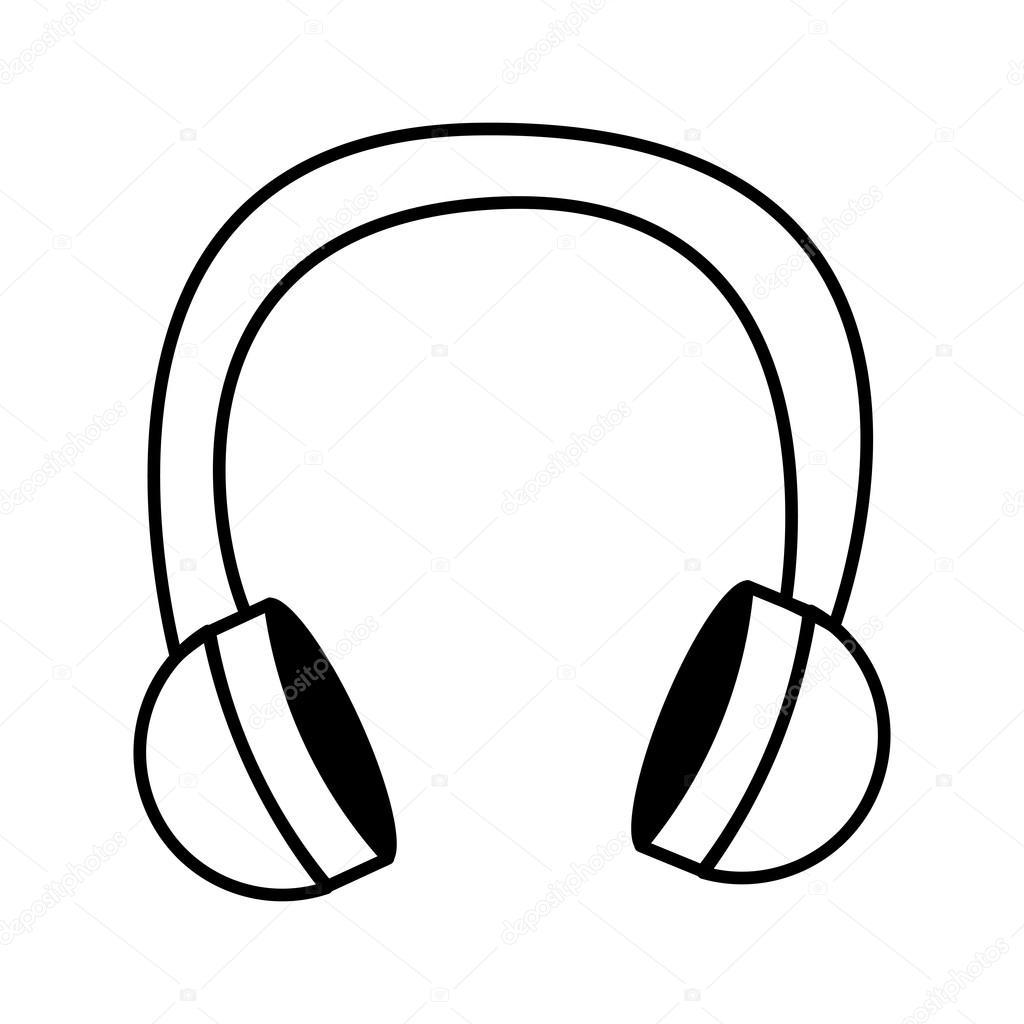 1024x1024 Earphone Wire Music Icon Stock Vector Yupiramos