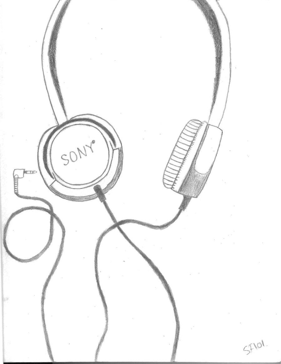 900x1166 Headphones By Silverfire101
