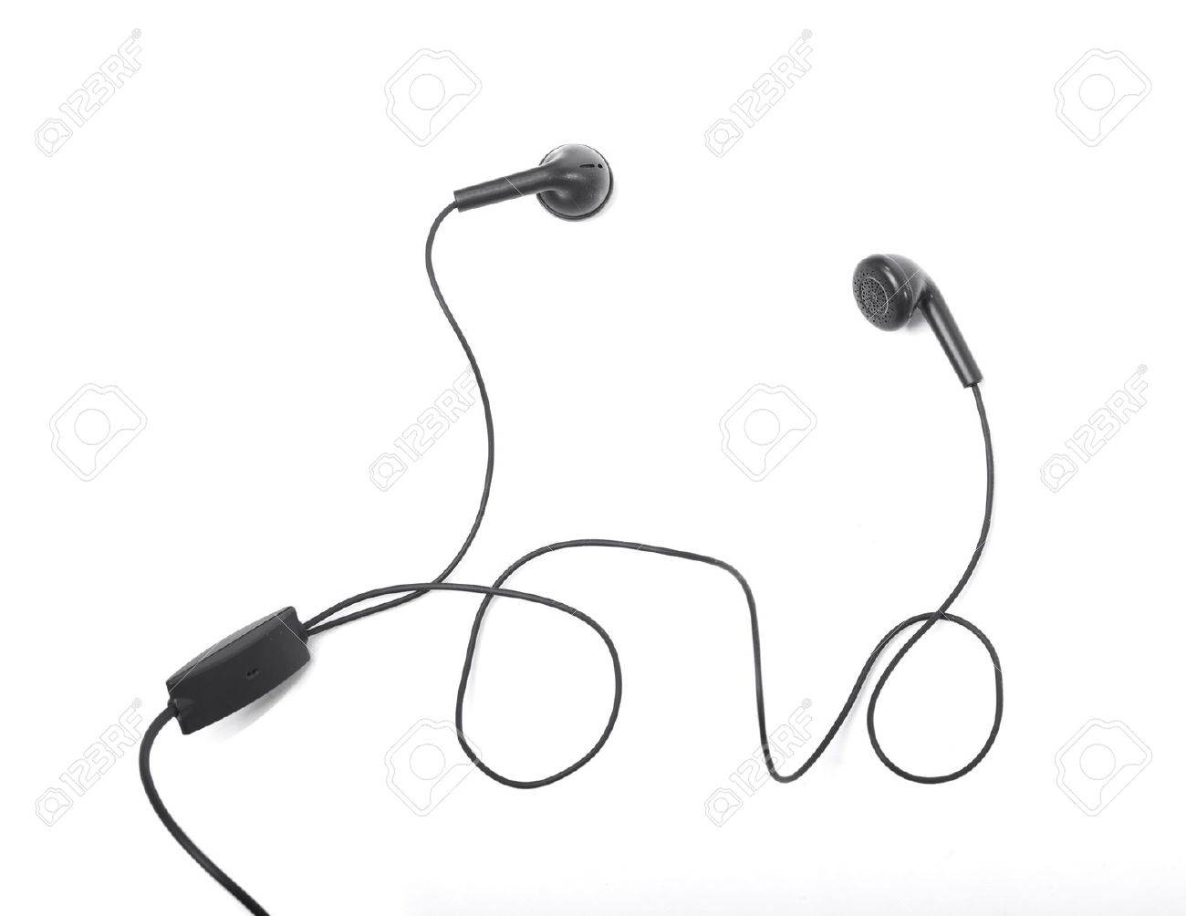1300x1004 Modern Portable Audio Earphones Isolated On A White Background