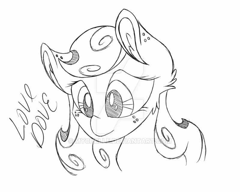 800x640 Mlp Sketch Love Dove By Mychelle