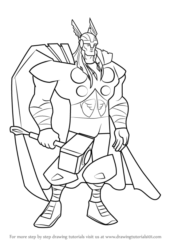 566x800 Learn How To Draw Thor From The Avengers
