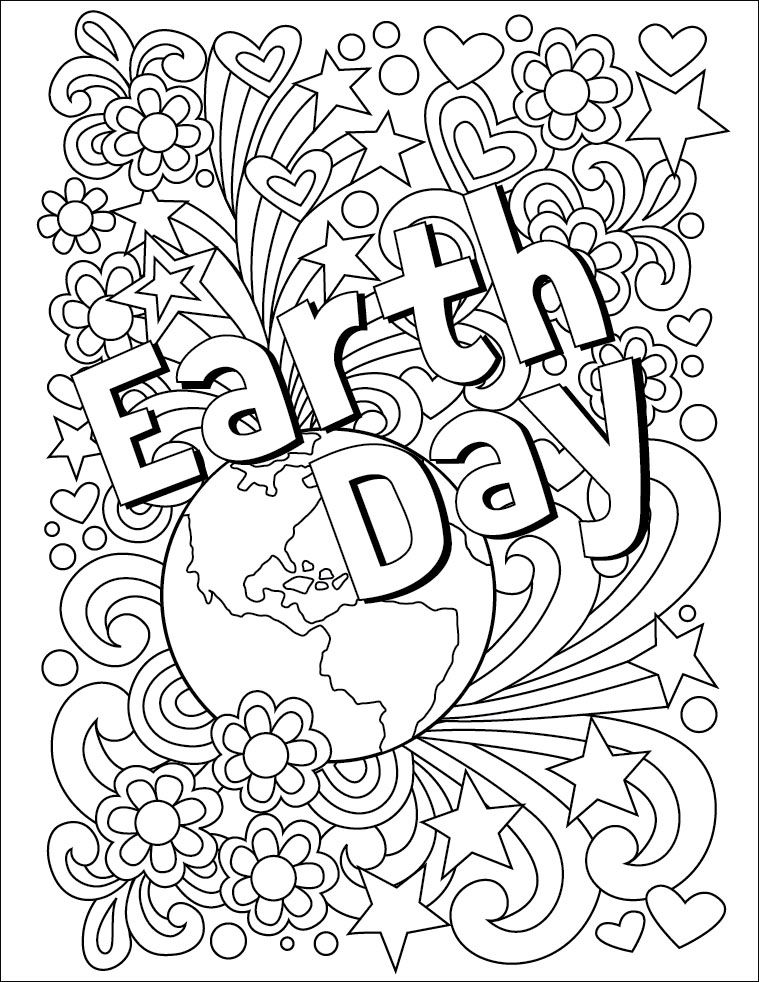 759x982 Earth Day Coloring Page