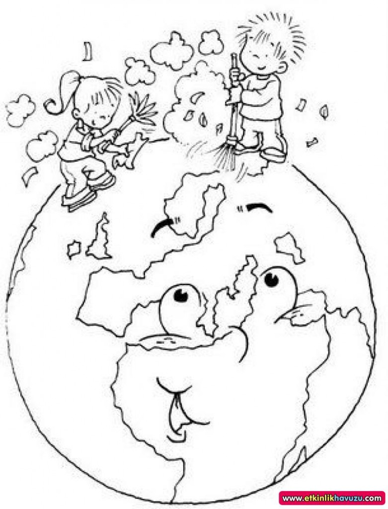 781x1024 Earth Day Coloring Pages