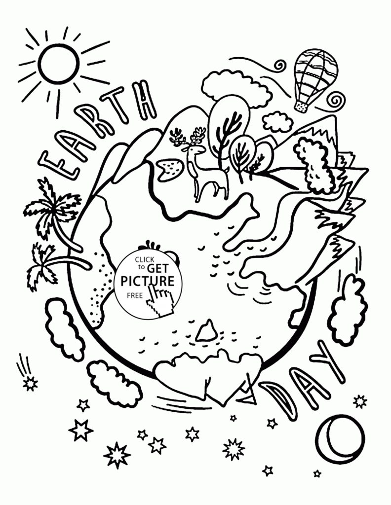 792x1024 Earth Day Coloring Pages