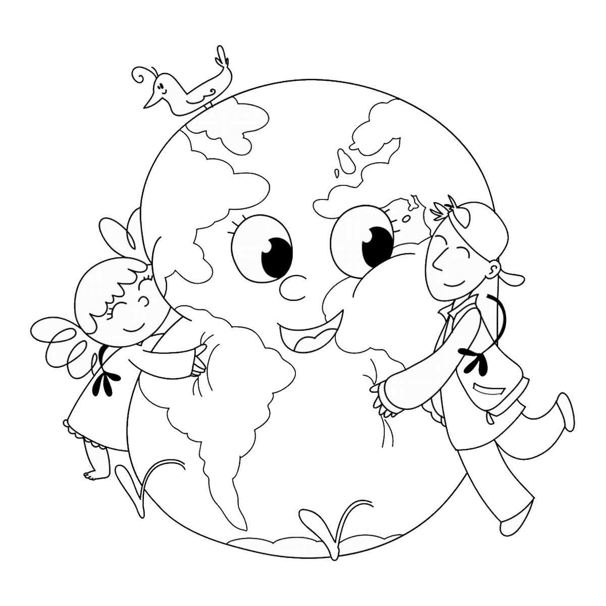 1200x1200 Earth Day Coloring Pages