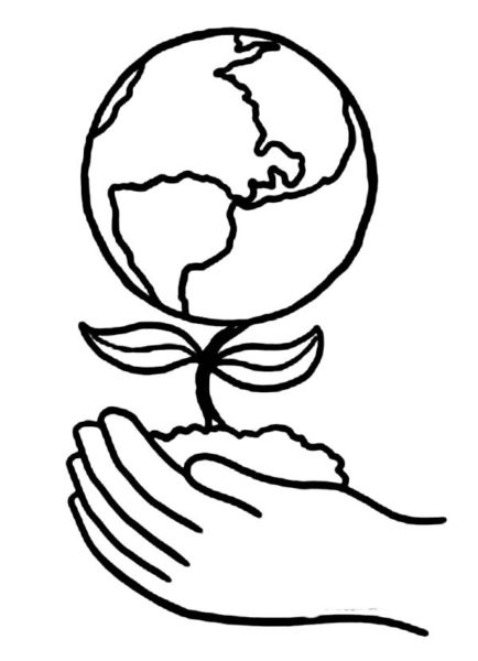 434x600 Earth Drawings Easy