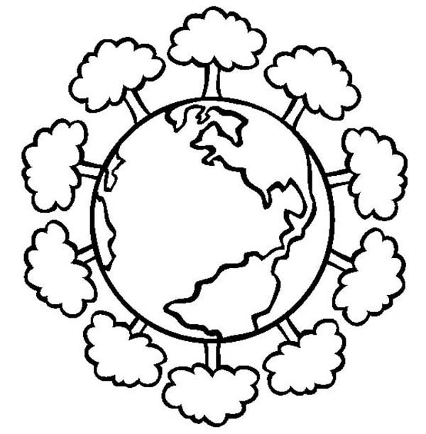600x612 Having A Healthy Forest On Earth Day Coloring Page Color Luna