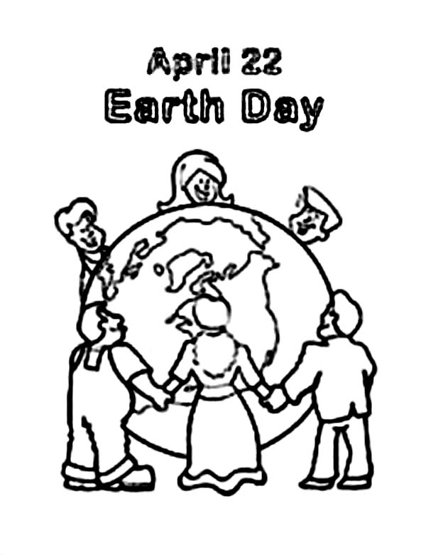 600x780 Peoples Around The World Celebrating Earth Day Coloring Page