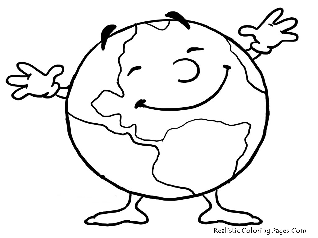 1024x768 Earth Coloring Pages Printable Day Realistic