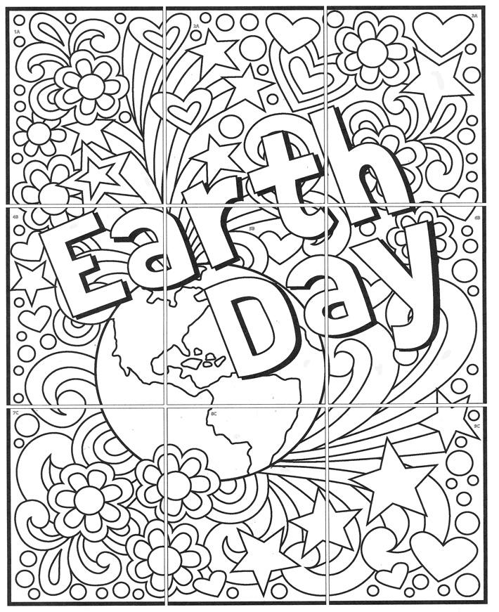 710x871 Free! Mini Earth Day Mural