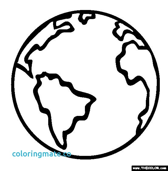 554x565 Globe Coloring Page Elegant Best Photos Of Earth Sketch Drawing