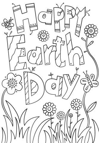 333x480 Happy Earth Day Coloring Page Free Printable Pages