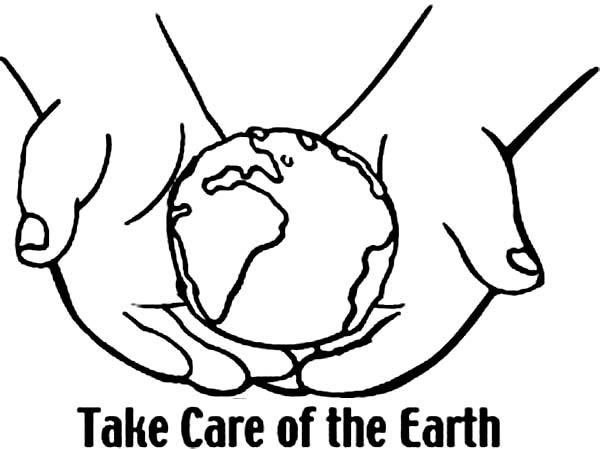 600x449 Take Care Of The Earth On Earth Day Coloring Page