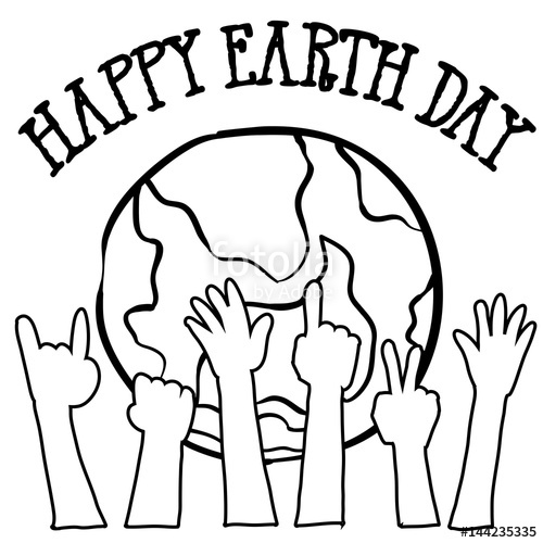 500x500 Collection Of World Hand Draw Earth Day Stock Image And Royalty