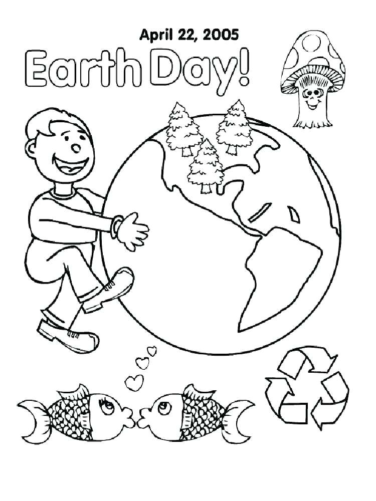 750x1000 Coloring Pages Earth Day Sheet Of
