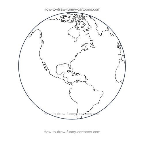 500x490 How To Draw A Cartoon World