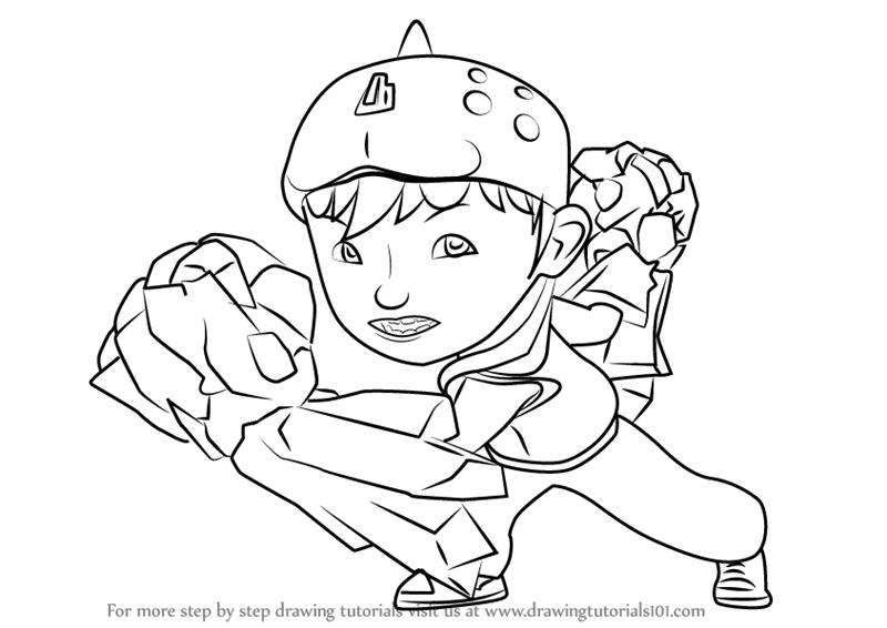 800x566 Learn How to Draw BoBoiBoy Earth from BoBoiBoy (BoBoiBoy) Step by