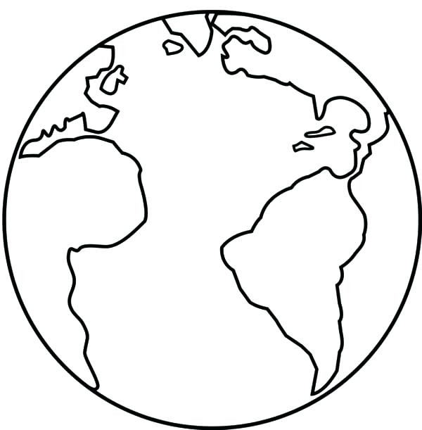 600x611 Refundable Printable Pictures Of Earth Globe Coloring Page Elegant