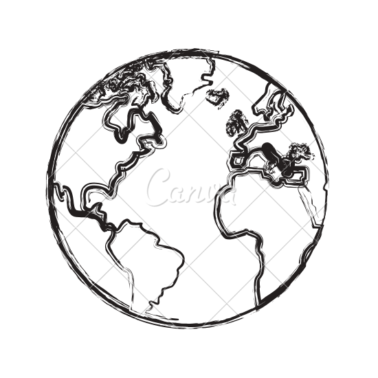 Lovely 550x550 Sketch Globe Earth Map Icon