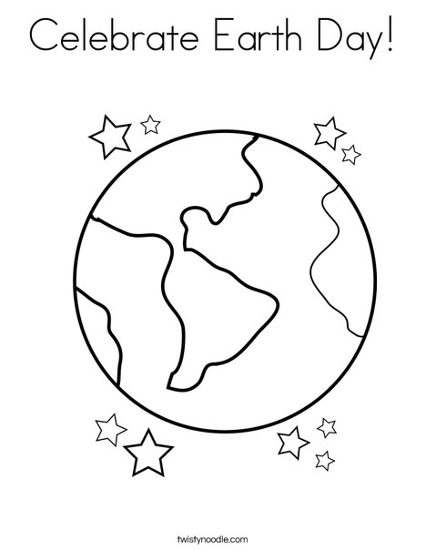 468x605 Celebrate Earth Day Coloring Page