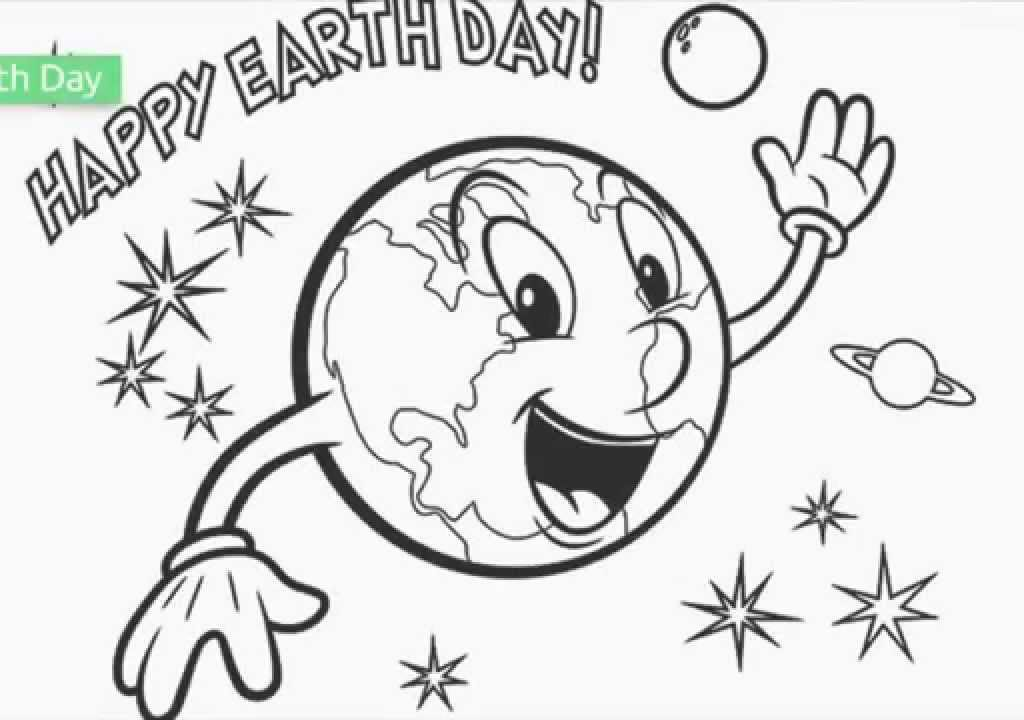 1024x720 Earth Day Coloring Sheet Free Printable Pages Kids For Toddlers