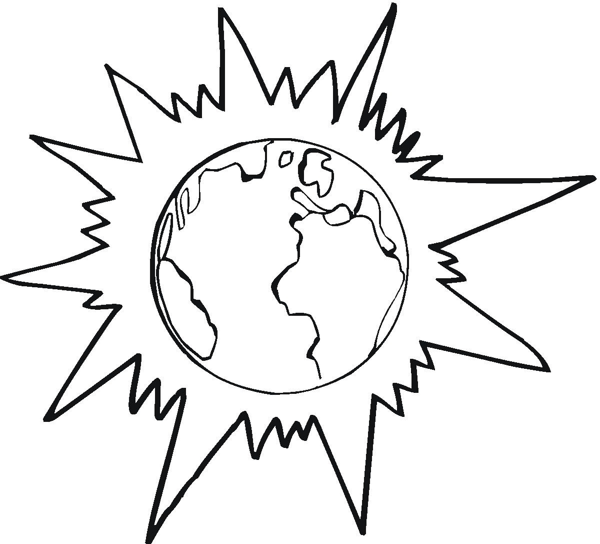 1200x1087 Free Printable Earth Coloring Pages For Kids
